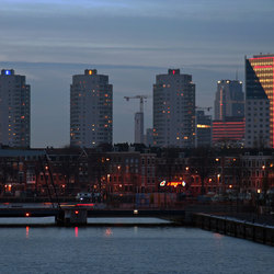 Rotterdam Ouid-Zuid in de avond