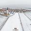 Den Hoorn op Texel in de sneeuw.