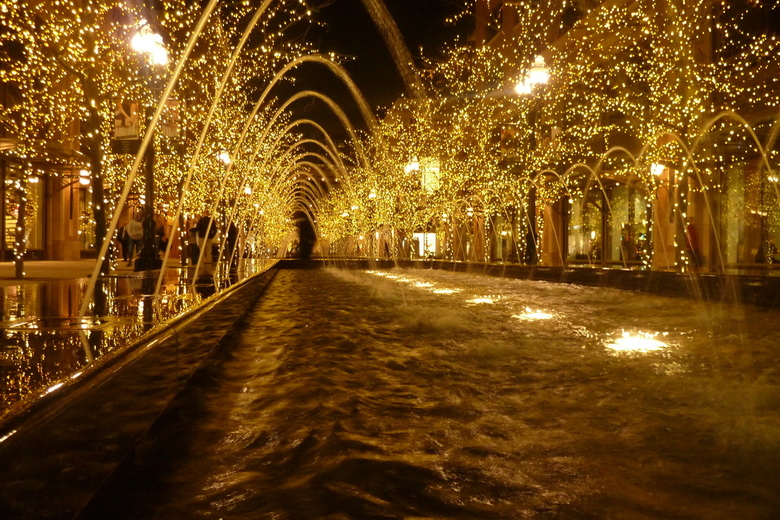 Enlighted fountain - Fontein in hartje Salt Lake City