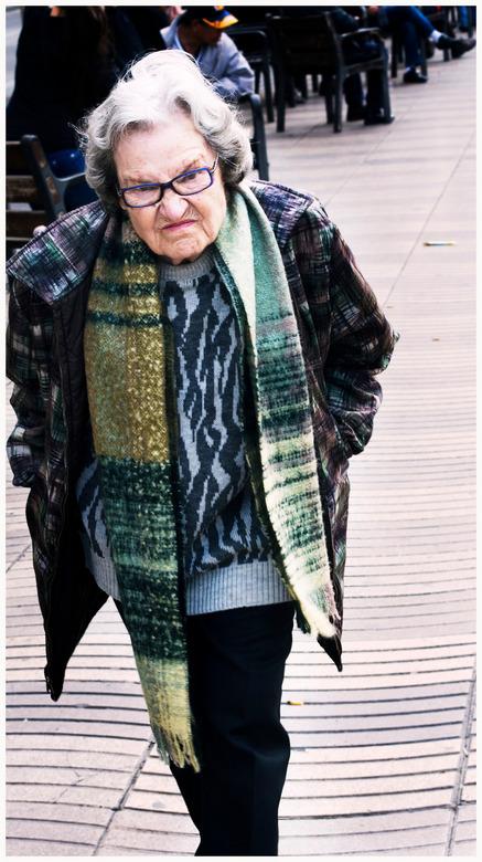 ramblas grandma - barcelona trip 2013 om-d 45 mm