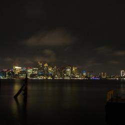 Boston by night.