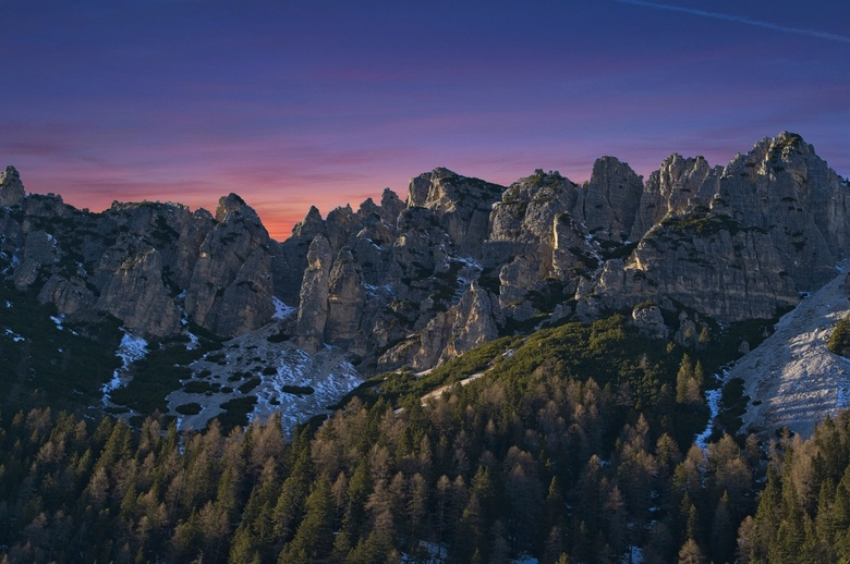 Monte Cristallo sunset - The 2018 winter, we went to  Val Pusteria, Dolomites. Our location was perfect for some of the most iconic places on the Dolo