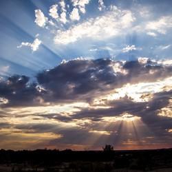 Magische zonsondergang in Zuid Afrika
