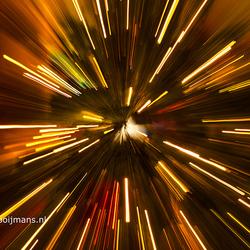 Kerstboom met draaiende lens