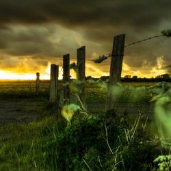 Dramatische wolken bij Egmond