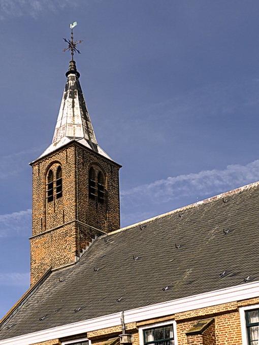 Waalse kerktoren. - De toren van de Waalse kerk, was voor de reformatie een katholieke kerk met de naam Begijnhofkapel.<br /> Het is de oudste kerk v