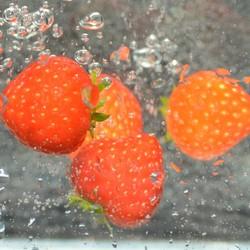 Vallende aardbeien