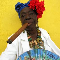 Cigar Woman Havana Vieja Cuba