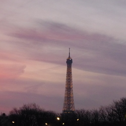 Paris in de kerstmis