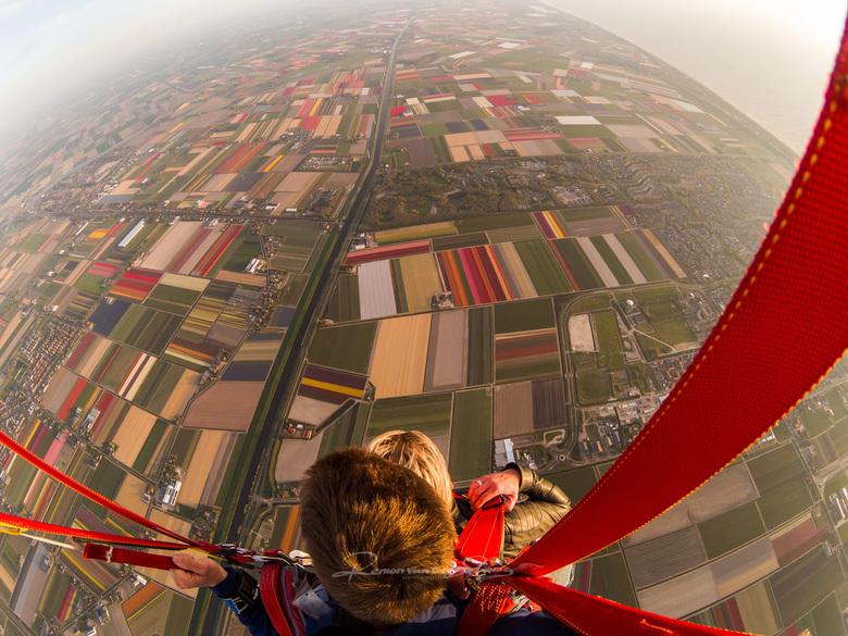 Bollen - De bollenvelden boven Julianadorp maar dan gezien met een ander perspectief..
