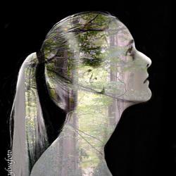 double exposure portrait-forest (1 van 1)