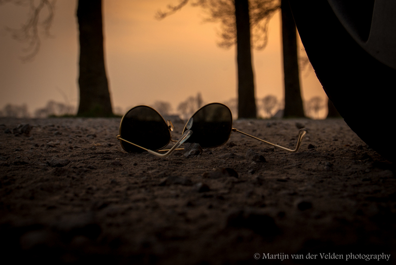 Sunglasses down -