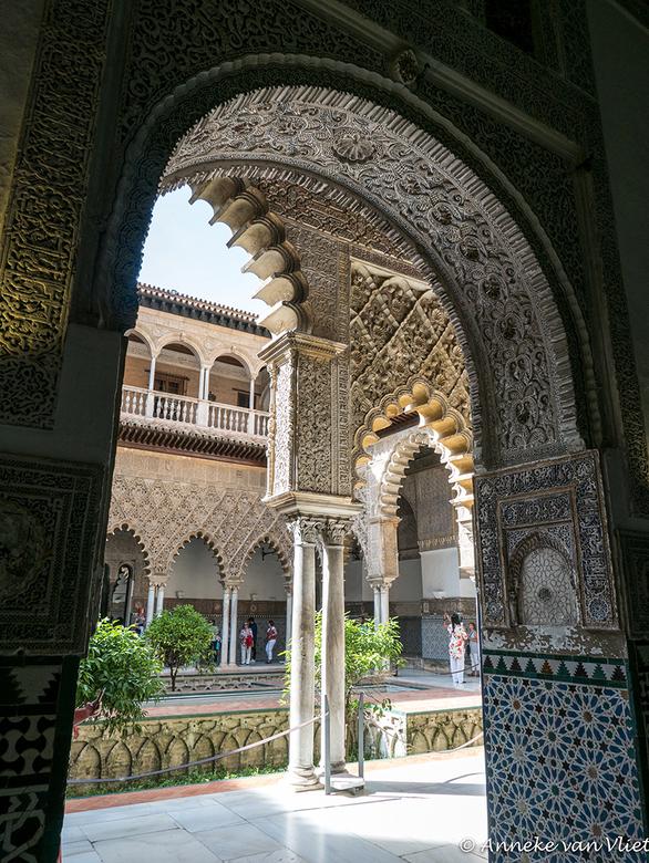 Sevilla, Real Alcazar, doorkijkje -