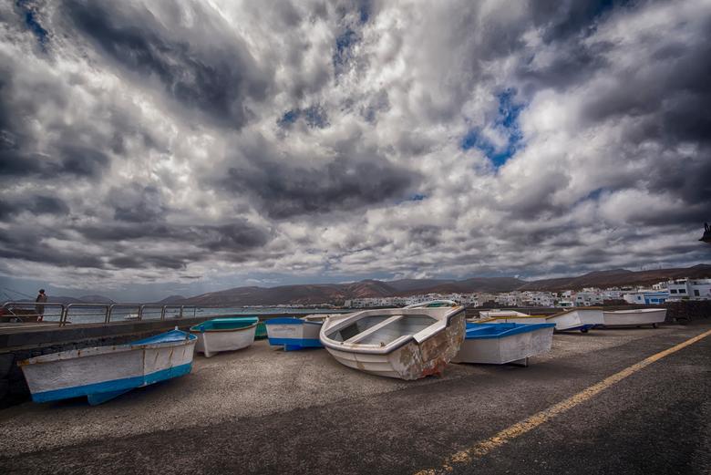 vissersdorpje Lanzarote - Punta Mujeres Lanzarote vissersbootjes op de kant 2019