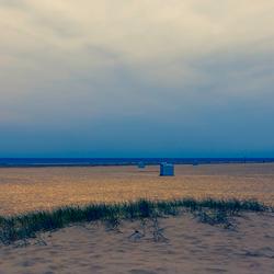 Strand bij de noordpier