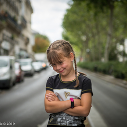 Little girl in Paris!