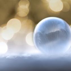 Winter zeepbel