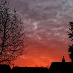 Lucht net na zonsondergang