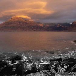 Isle of Skye, Elgol Beach just before sunrise