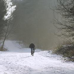 sneeuwfiets...