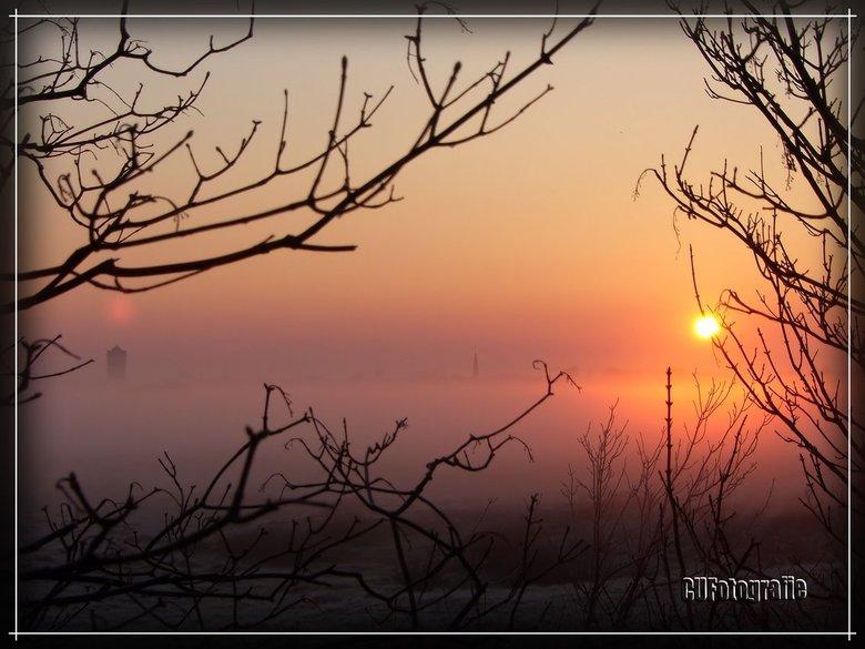 Mistige morgen in Monster - Een mistige morgen aan de Monsterse kust