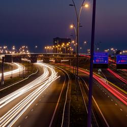 Eindhoven Autobaan lange sluitertijd