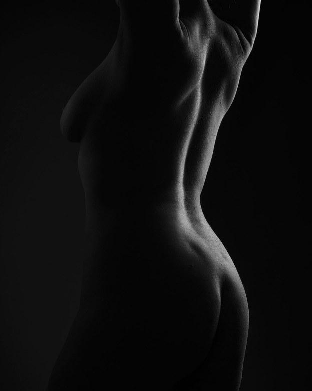 Low key rug vrouw - Low key naaktfoto van een vrouwelijk model.