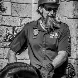 Politieman te paard...