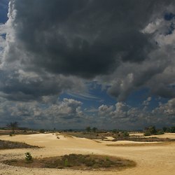 Zandverstuiving Strabrechtse heide