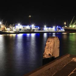 Avond in de haven van IJmuiden