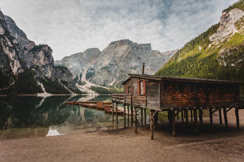 Pragser Wildsee, South-Tirol -  Lago di Braies, Dolomieten.