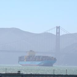 Lading afgeven in San Francisco