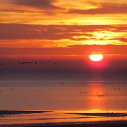 Waddenzee zonsopkomst