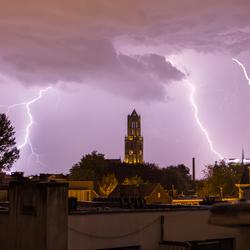 Onweer boven Utrecht
