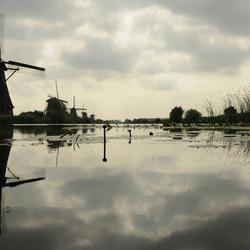bewolking in Kinderdijk
