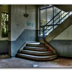 stairs in the power plant