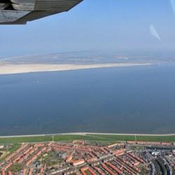 Texel vanuit de lucht; met Den Helder