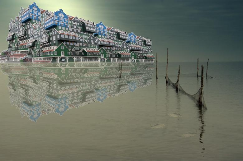 Zaans.jpg - Zaanse architectuur in het IJsselmeer