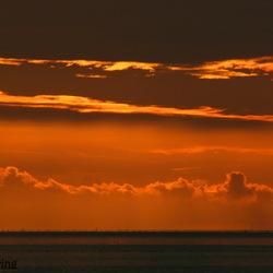 Zonsondergang Wad bij Harlingen