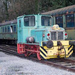 Oude locomotief