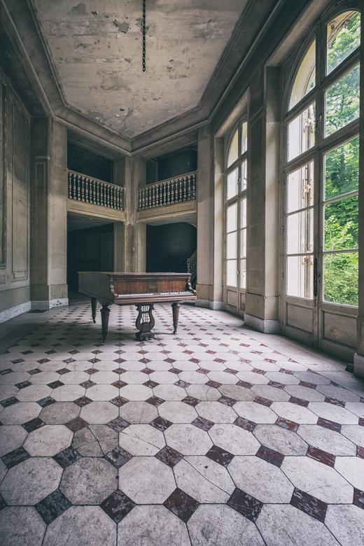 Verlaten piano -