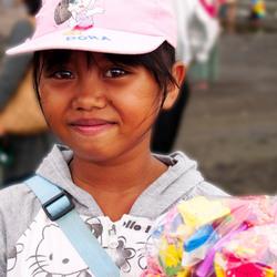 meisje op Balie