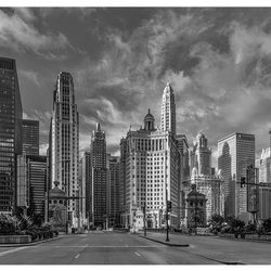 Empty streets of Chicago