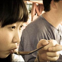 Eten op de markt Cambodia