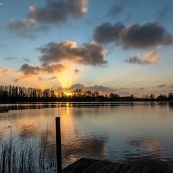 Zonsondergang Noorderplas