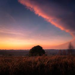 zonsondergang op de sallandse heuvelrug