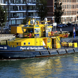 Port of  Rotterdam.
