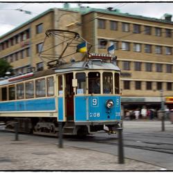 Oude tram in Göteborg