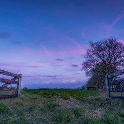 Blue hour fence