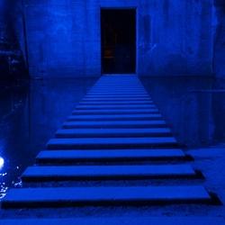 perpectief in blauw